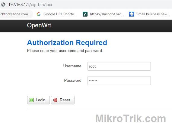 openwrt factory reset mikrotik