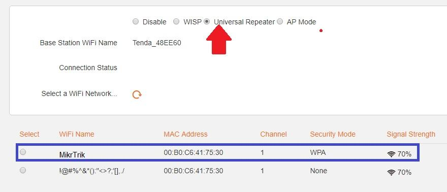 How do i configure Tenda N301 router as a repeater with primary
