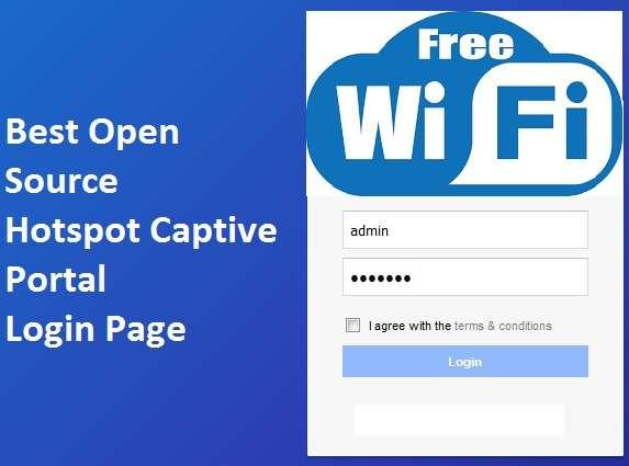 Free WiFi Captive Portal Login Page
