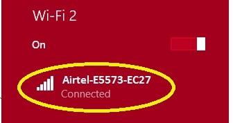 Setting password on airtel 4g