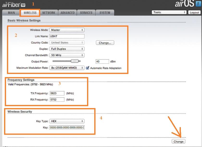 Ubiquiti AirFiber 5 Wireless Bridge (AF-5) user manual