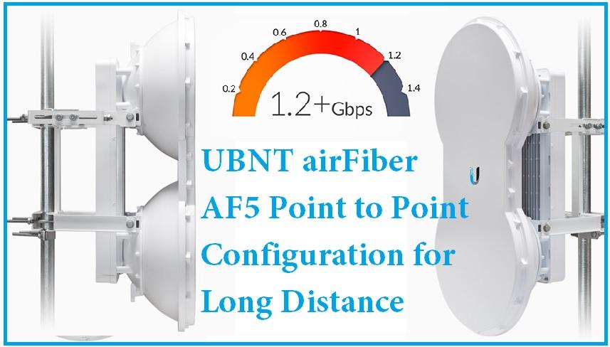 UBNT Airfiber AF5 Point to Point configuration