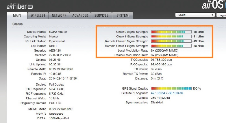 how to reset airfiber 5 from device