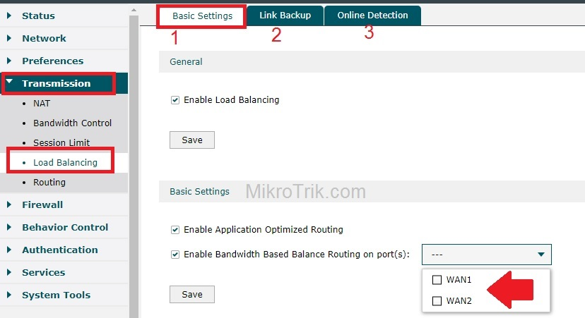 TP-Link Load Balance Router Setup for Two internet Line