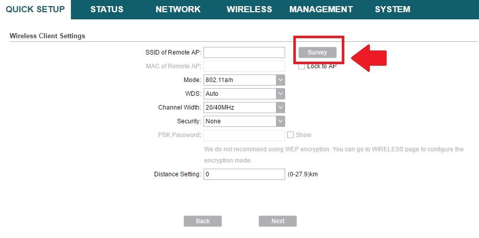 tp link pharos cpe210 ip address