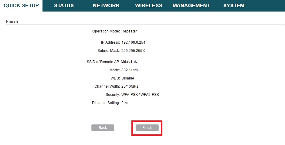TP-Link CPE210 300Mbps Outdoor Device Repeater Mode