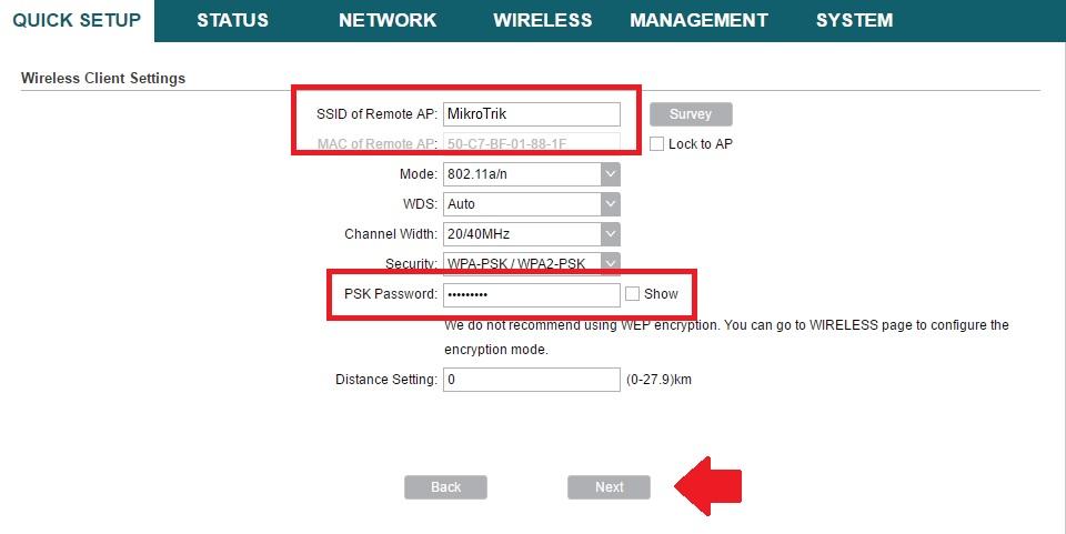 tp-link cpe210 range extender mode configurations