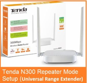 Tenda N300 WiFi Router Repeater Mode Configuration