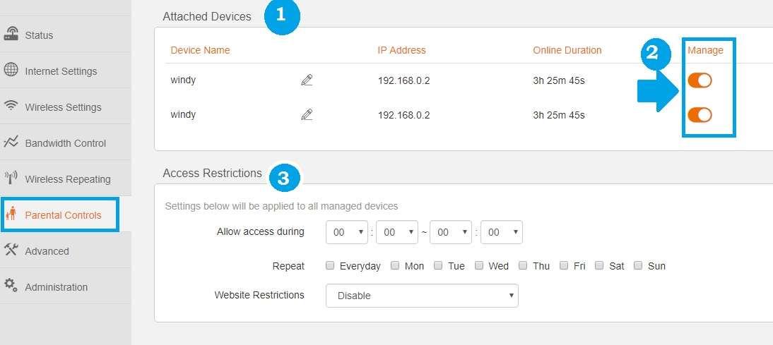 tenda n4 router setup website block