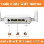 Tenda Router Website Block and Bandwidth Control setting