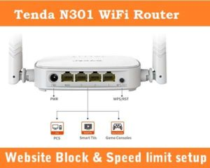 Tenda Router Website Block and Bandwidth Control setting