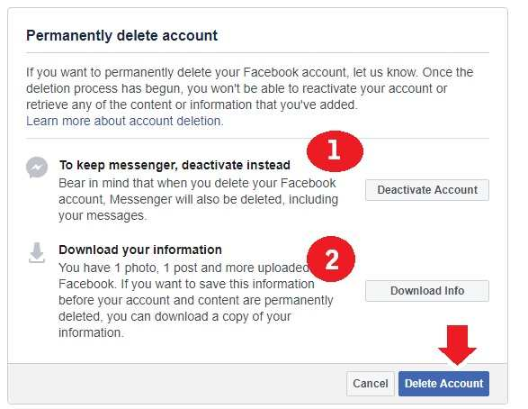 how to delete facebook messenger account on android