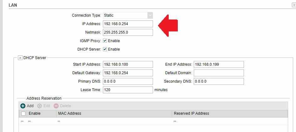 TP-link cpe210 LAN IP change to 192.168.1.1