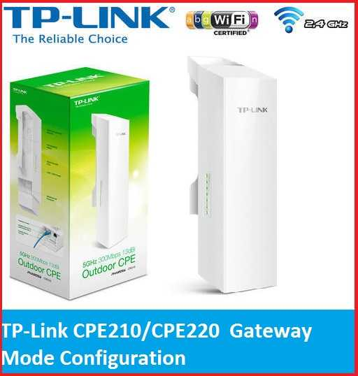 TP-Link CPE210 AP Router Mode Setup