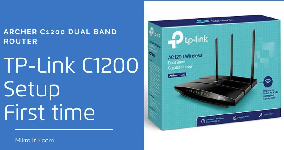 How to login and setup TP-Link AC1200 IP 192.168.0.1