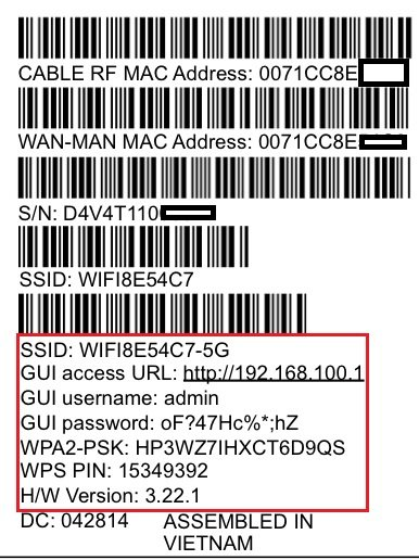 Login into Ubee dvw3201b Router