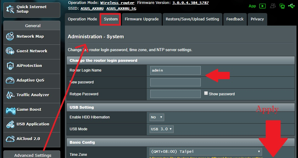 asus router login forgot password