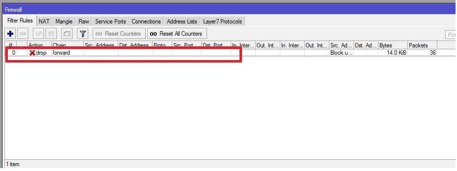 mikrotik firewall block list
