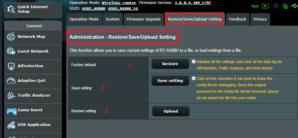 asus router remote login