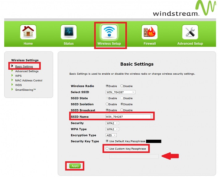 Login to Actiontec T3200 Windstream Router