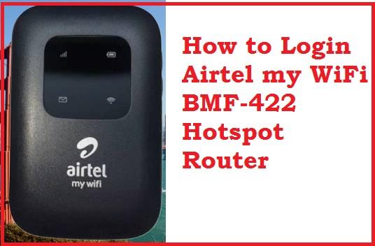 Login Airtel BMF-422 4G hotspot Router