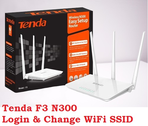 Setup Tenda F3 WiFi Router-192.168.0.1
