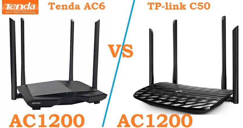 TP-Link archer C50 Vs Tenda AC6 AC1200
