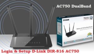 Login D-Link AC750 Dual Band Router-192.168.0.1