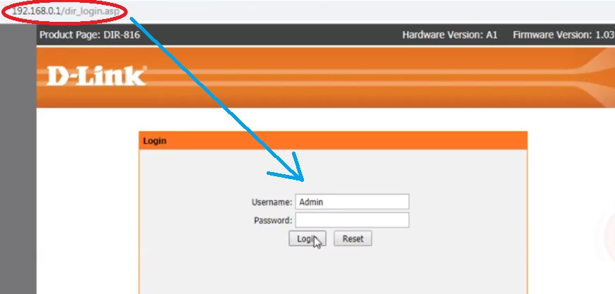 d-link router default login
