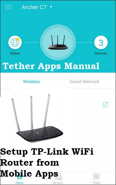 setup TP Link ac750 from mobile apps