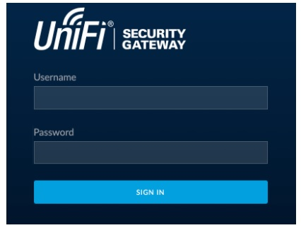 unifi default password