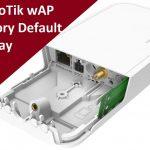 Factory reset mikrotik wAP Router